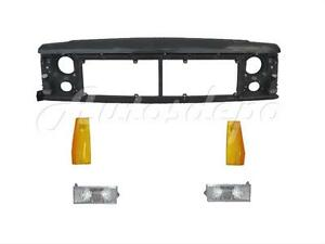 For 1991 1996 Jeep Cherokee Front Header Panel Prak Signal Side Marker Light 5pc
