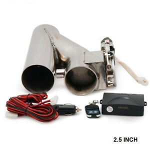 Universal 2 5 Exhaust Catback Turbo Electric Exhaust Cutout Y Pipe E Cut Out