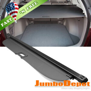 Us For 2005 2008 Honda Fit Jazz Cargo Cover Rear Trunk Shade Retractable Black