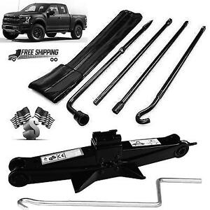 For 04 14 Ford F150 Spare Tire Tool Kit Lug Wrench Set 2 Tonne Scissor Jack