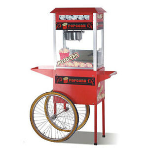 8 Oz Popcorn Popper W cart 220 240v Commercial Quality Concession Equipment