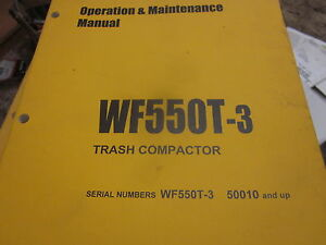 Komatsu Wf550t 3 Trash Compactor Operation Maintenance Manual S n 50010 Up