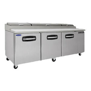 Nor lake Nlpt93 Pizza Prep Table Refrigerated Counter
