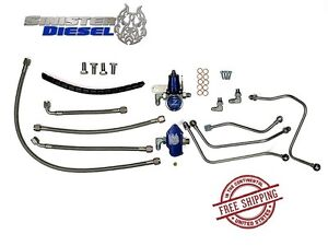 Sinister Diesel Regulated Fuel Return Kit 03 07 Ford Super Duty 6 0 Powerstroke