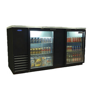 Nor lake Nlbb69 g 69 Two Section Refrigerated Back Bar Cabinet With Glass Doors