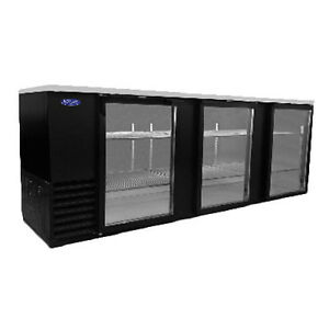 Nor lake Nlbb95 g 95 3 Section Refrigerated Back Bar Cabinet With Glass Doors