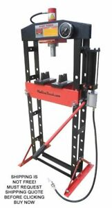 Redline Re20t Air Pump Shop Press 20 Ton Automotive Hydraulic Heavy Duty