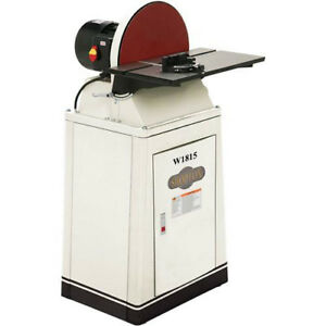 Shop Fox W1815 15 Disc Sander with Brake with Cabinet Stand & Storage Shelf