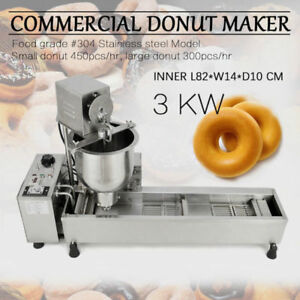 Good Commercial Automatic Donut Making Machine wide Oil Tank 3sets Free Mold