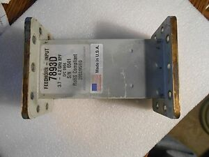 Mfc 7893d Microwave Filter Company Waveguide Band Pass Filter 3 7 4 4 Ghz Vsat