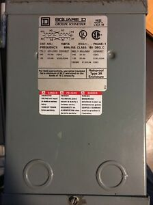 Square D Schneider Electric General Purpose Transformer 1s6fis New