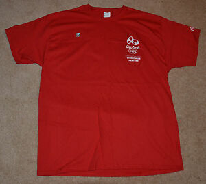 New! Coca Cola RIO 2016 Olympic Games RED Shirt (XL) Olympics (COKE) (XLARGE)