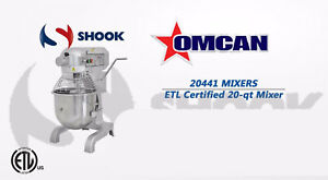 Omcan 20441 1 5 Hp 20 Qt Commercial Mixer Gear Driven Free Lift Gate