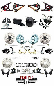 Deluxe Chevelle Front Rear Disc Brake Performance Wilwood Tubular A Arms