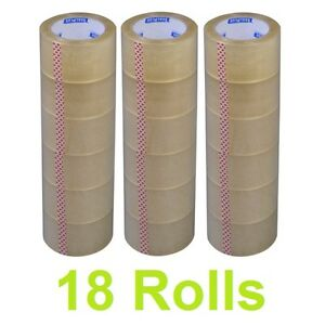 New Lot 18 Rolls 2 X 110 Yards 330 Ft Box Carton Sealing Packing Package Tape