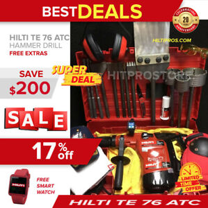 Hilti Te 76 atc Hammer Drill Preowned Free Smart Watch Extras Fast Ship
