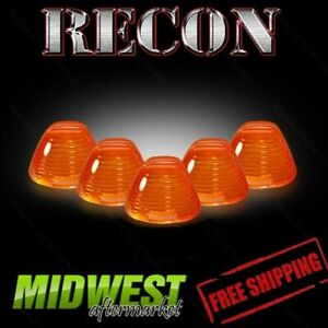 Recon Amber Cab Light Kit With Amber Xenon Bulbs For 99 13 Ford F 250 F 350