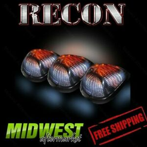 Recon Clear Cab Roof Lights With Strobe Amber Led s 99 12 Ford F250 F350