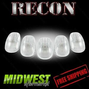 Recon Clear Cab Roof Lights With Amber Leds 99 01 Dodge Ram 1500