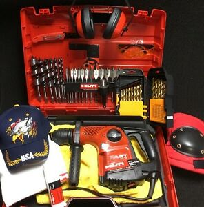 Hilti Te 16 Hammer Drill Preowned Set Of Wood Bits A Lot Of Extras Fast Ship