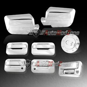 04 08 Ford F 150 Chrome 4 Door Handle tailgate Gas Door full Mirror Cover Combo