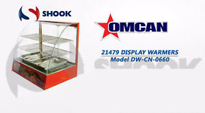Omcan Dw cn 0660 21479 Commercial Curved Glass Hot Food Warmer
