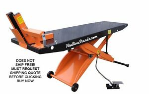 New Redline Dt1k Orange Drop Tail Motorcycle Atv Lift Table No Side Extensions
