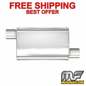 Magnaflow Xl 3 Chamber Stainless Steel Turbo Muffler 2 25 O o 18 Body 13265