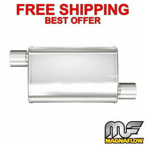 Magnaflow Xl 3 Chamber Stainless Steel Turbo Muffler 2 5 O O 18 Body 13266