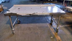 Equipment Stand All Stainless With Casters For Charbroiler Griddle Or Range