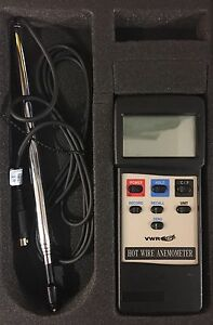 Vwr Hot Wire Anemometer Thermometer traceable 21800 024 New In Case