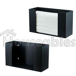 C fold Multifold Paper Towel Dispenser Holder Black Acrylic Wallmount countertop