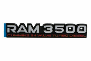 98 02 Dodge Ram 3500 Cummins 24 Valve Turbo Diesel Emblem Nameplate Badge Mopar
