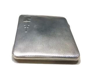 Vintage England Sterling Silver Cigarette Business Card Case Hallmarked 99 Grams