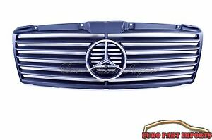 Mercedes benz W210 Satin Finish Black Sport Grille grill Up To 06 1999