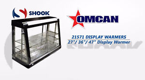 Omcan Rs cn 0160 21571 47 Commercial Hot Food Warmer Glass Merchandiser Display
