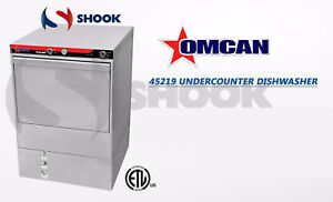 Omcan 45219 Cd gr 0500 High temp Undercounter Commercial Restaurant Dishwasher