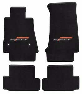 New Black Floor Mats 2016 2019 Camaro Embroidered 50th Fifty Anniversary Logo 4