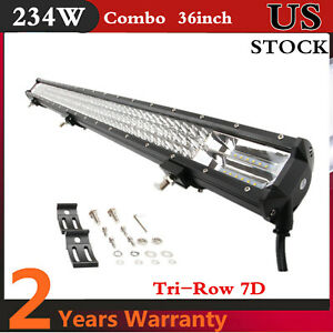 36 Inch 234w Flood Spot Combo Led Light Bar Offroad Boat 4wd Ford Utility 48 52