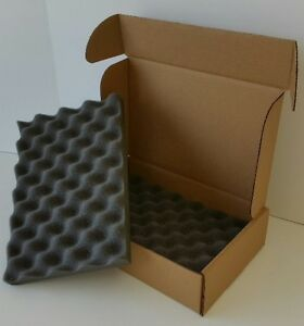 12 x8 x3 Foam Padded Shipping Storage Box Container Mailer Lot free Shipping