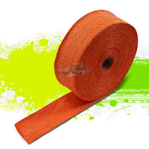 10m 32 Feet 2 Width Car Bike Exhaust Manifold Header Down Pipe Orange Heat Wrap