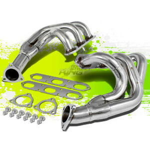 For 99 04 Porsche 911 3 4 3 6 H6 Stainless Steel Racing Exhaust Header Manifold