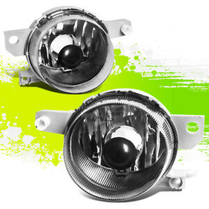 Chrome Clear Lens Oe Bumper Fog Light lamp Pair For 93 95 Honda Del Sol Eg Eh6