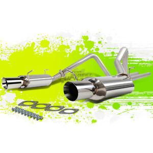 For 11 14 Ford Mustang S197 3 7 V6 Roll 4 Tip Stainless Steel Catback Exhaust