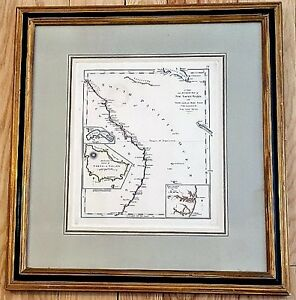 Framed C1818 Map New South Wales South Pacific 3 Inset Maps Marked Gridley Nr