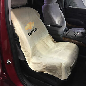 Brand New Universal Tan Seat Towel Seat Armour Cover With Chevrolet Logo