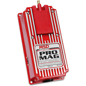 Msd Pro Mag 12 20 Amp Electronic Points Coil Assembly Box Red 8106