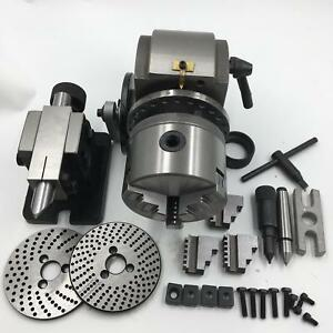 Dividing Head Bs 0 Precision 4 3 Jaw Chuck tailstock dividing Plate Cnc Milling