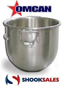 Omcan Mxb30 14247 Stainless Steel 30 Qt Mixing Bowl For Hobart Mixer