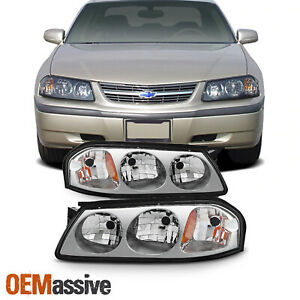 Fit 2000 2001 2002 2003 2004 2005 Chevy Impala Replacement Headlights L R